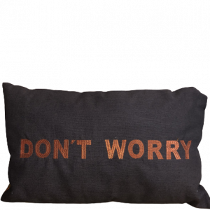 coussin don't worry