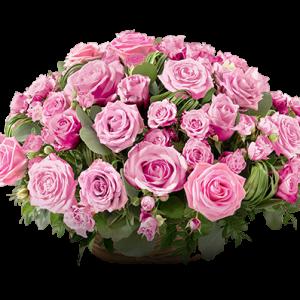 Panier Rond de Roses