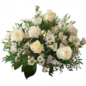 Panier de fleurs blanches 6PO3